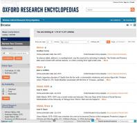 Oxford Research Enclopedia screenshot