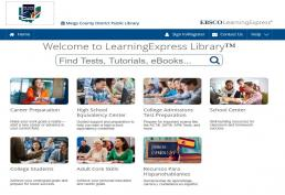 screenshot of learning express library homepage